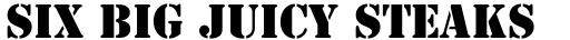 Stencil Bold sample