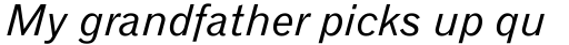 Gothic 720 Std Italic sample