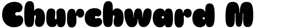Click to view  Churchward Marianna font, character set and sample text