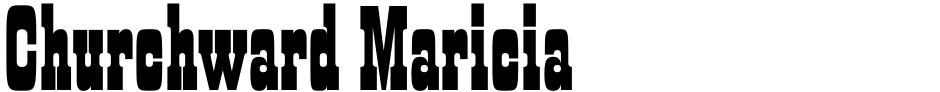Click to view  Churchward Maricia font, character set and sample text