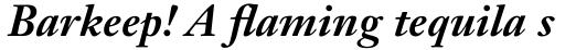 Janson Text Std 76 Bold Italic sample