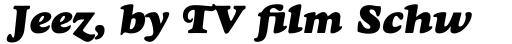 Goudy Std Heavyface Italic sample