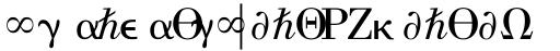 Universal Pi Greek with Math sample