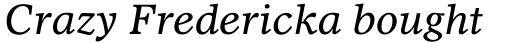 Dutch 811 Std Italic sample