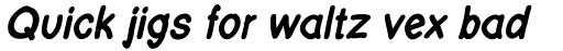 FF Layout Bold Italic sample