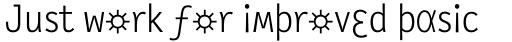 FF Letter Gothic Slang OT Text Light sample