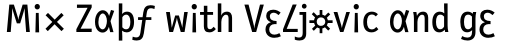 FF Letter Gothic Slang OT Text Roman sample