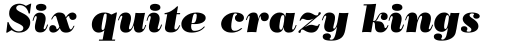 Bodoni Poster Italic sample