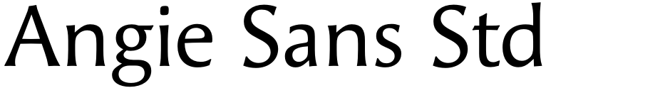Click to view  Angie Sans Std font, character set and sample text