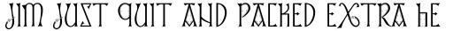 Lindisfarne Runes BT Roman sample