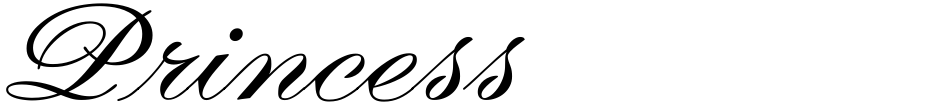 Click to view  Princess font, character set and sample text