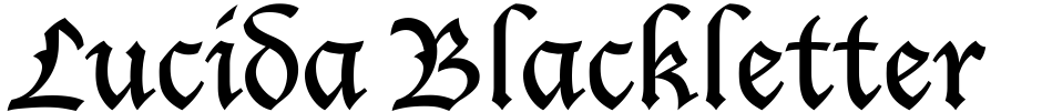 Click to view  Lucida Blackletter font, character set and sample text