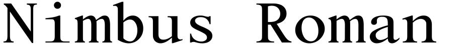 Click to view  Nimbus Roman Mono font, character set and sample text
