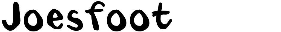 Click to view  Joesfoot font, character set and sample text