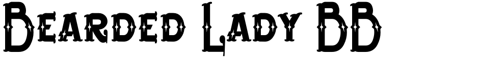 Click to view  Bearded Lady BB font, character set and sample text