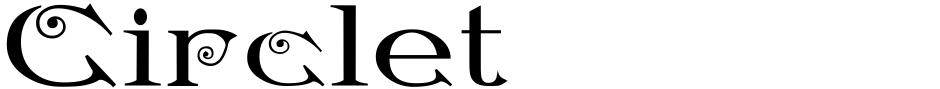 Click to view  Circlet font, character set and sample text
