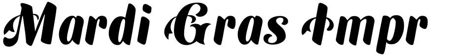 Click to view  Mardi Gras Improved font, character set and sample text