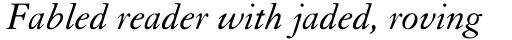 Granjon Italic sample