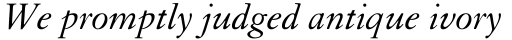 Granjon Italic Old Style Figures sample