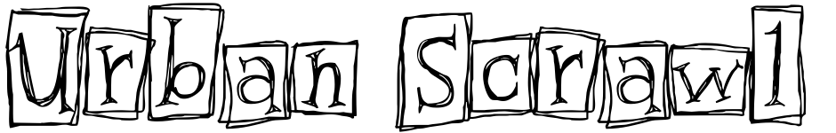 Click to view  Urban Scrawl font, character set and sample text