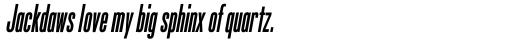 Silverscreen Bold Italic sample