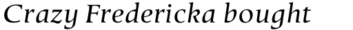 Berndal Std Italic sample