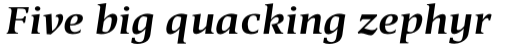 Berndal Std Bold Italic sample