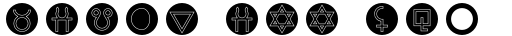 Astrotype N Dot Outline sample