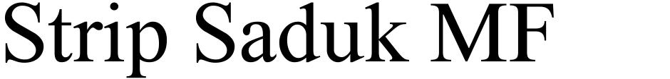 Click to view  Strip Saduk MF font, character set and sample text