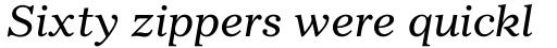 Gazette Italic sample