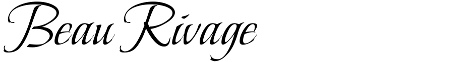 Click to view  Beau Rivage font, character set and sample text