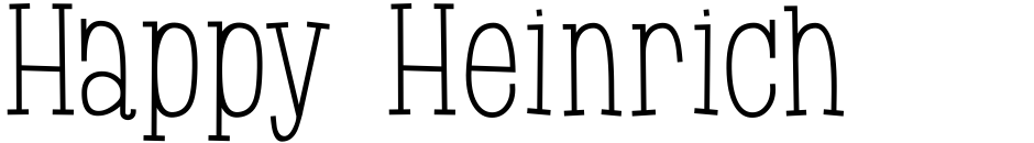 Click to view  Happy Heinrich font, character set and sample text