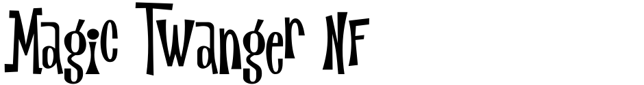 Click to view  Magic Twanger NF font, character set and sample text