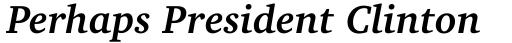 Charter BT Pro Bold Italic sample