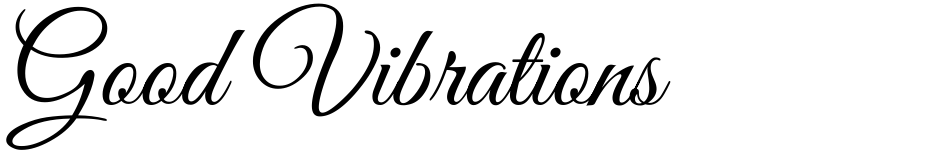 Click to view  Good Vibrations font, character set and sample text