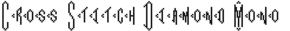 Click to view  Cross Stitch Diamond Monogram font, character set and sample text