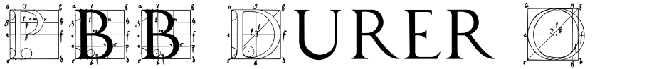 Click to view  P22 Durer Caps font, character set and sample text