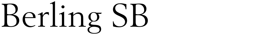 Click to view  Berling SB font, character set and sample text