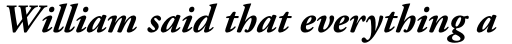 Adobe Garamond Pro Bold Italic sample