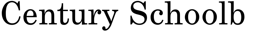 Click to view  Century Schoolbook SB font, character set and sample text