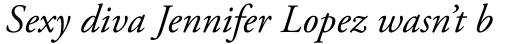 Adobe Garamond Pro Italic sample