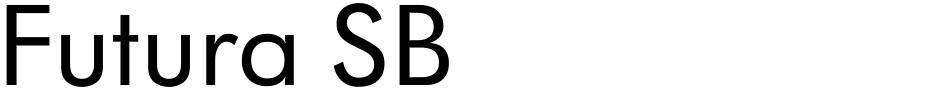 Click to view  Futura SB font, character set and sample text