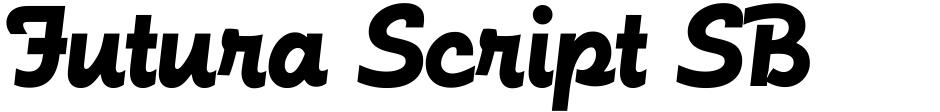 Click to view  Futura Script SB font, character set and sample text