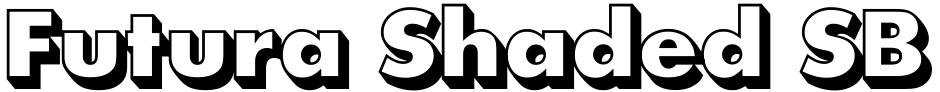 Click to view  Futura Shaded SB font, character set and sample text