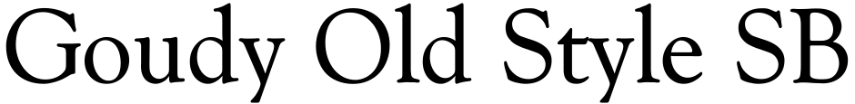 Click to view  Goudy Old Style SB font, character set and sample text