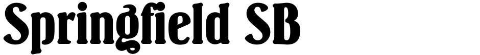 Click to view  Springfield SB font, character set and sample text