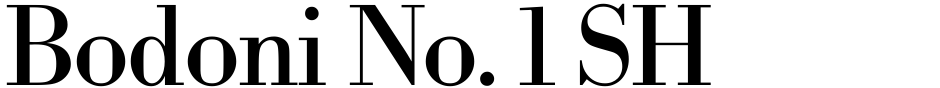 Click to view  Bodoni No. 1 SH font, character set and sample text