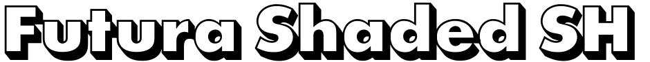 Click to view  Futura Shaded SH font, character set and sample text
