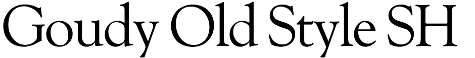 Click to view  Goudy Old Style SH font, character set and sample text