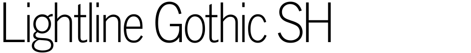 Click to view  Lightline Gothic SH font, character set and sample text